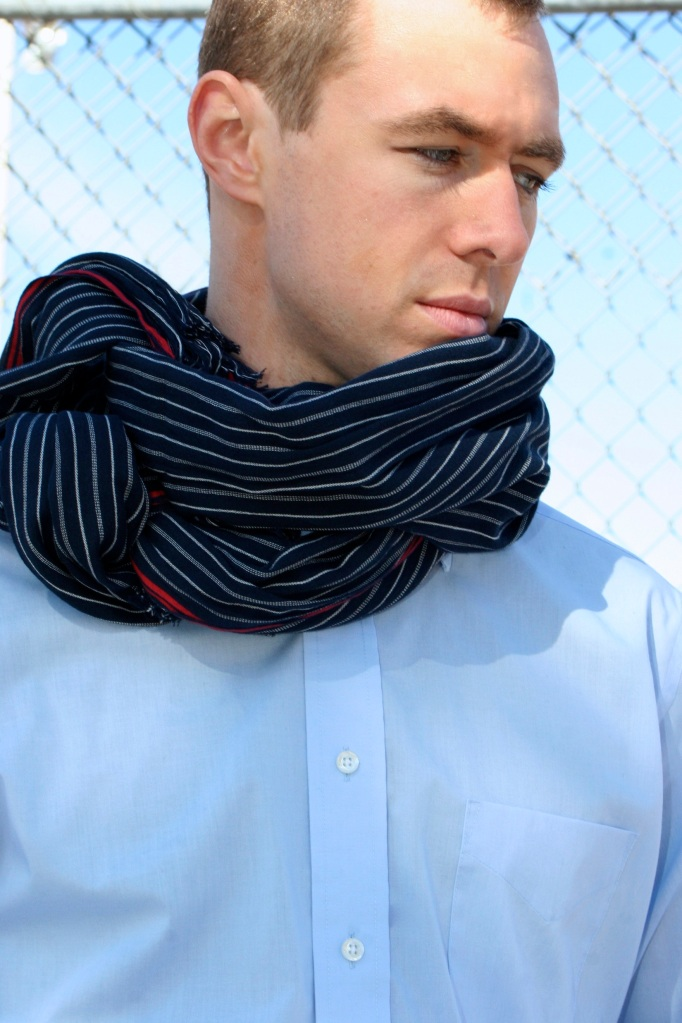 Learn different ways to tie your scarf around your neck - this will create volume and will frame your face -