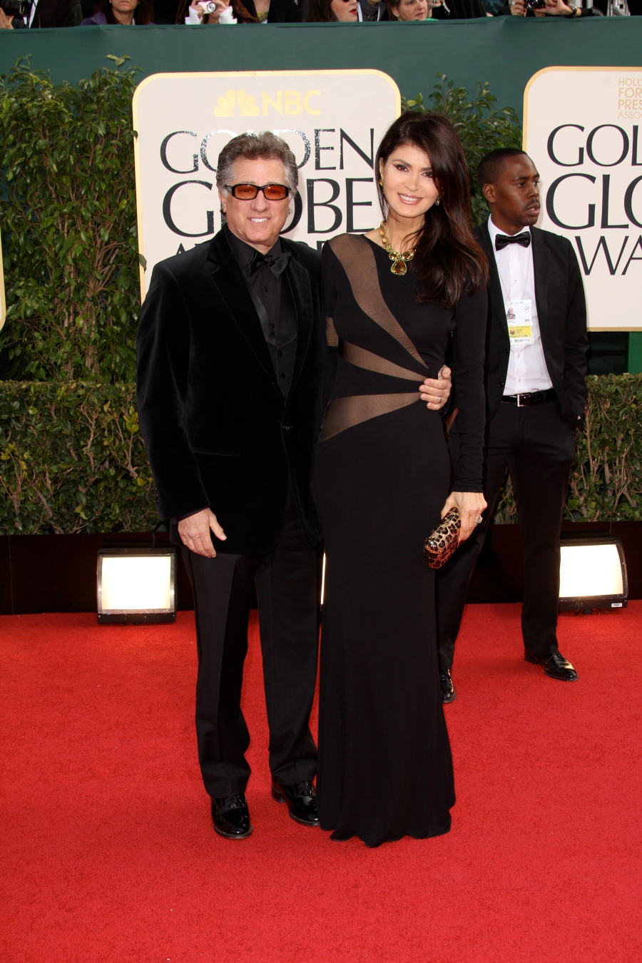 The Etkin's arrive at The Golden Globes,...in Style!
