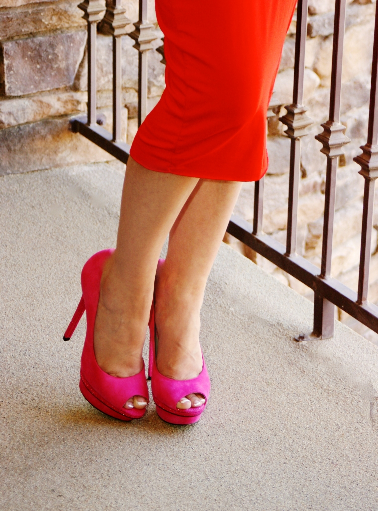 Pink Peep Toe Pumps - Perfect!