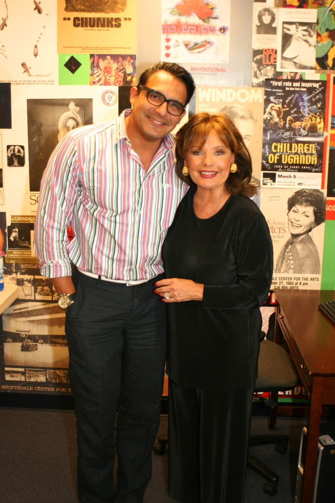 """With Ms. Dawn Wells after """"Loss, Love and What I Wore"""""""