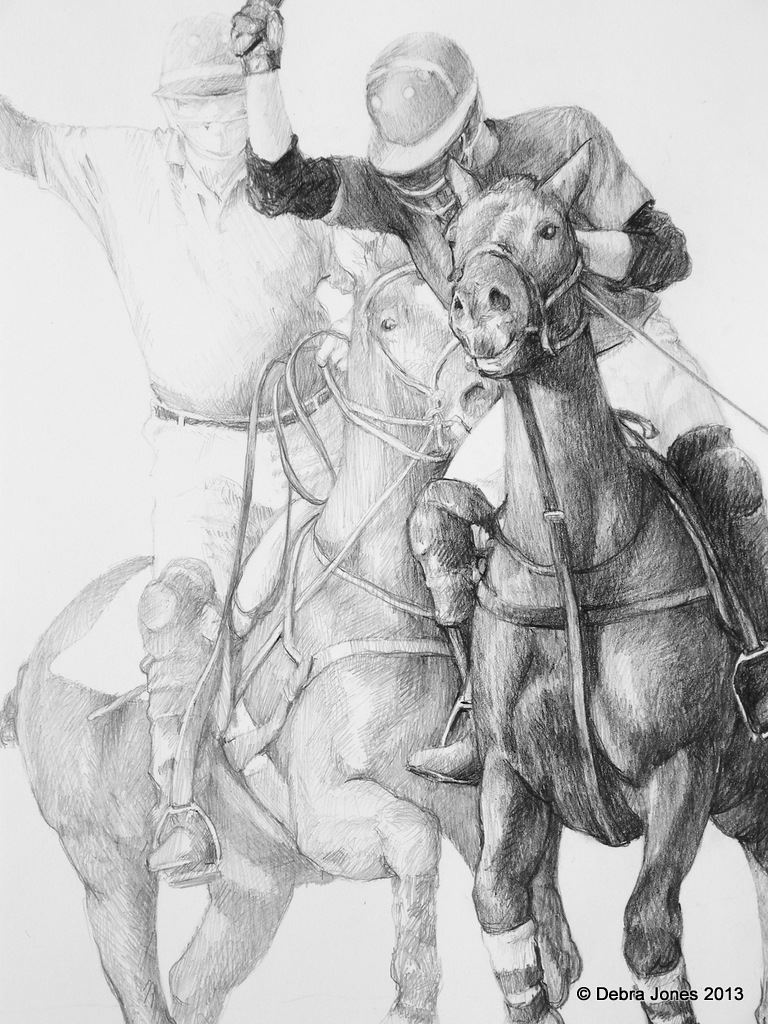 Polo Scene by Debra Jones