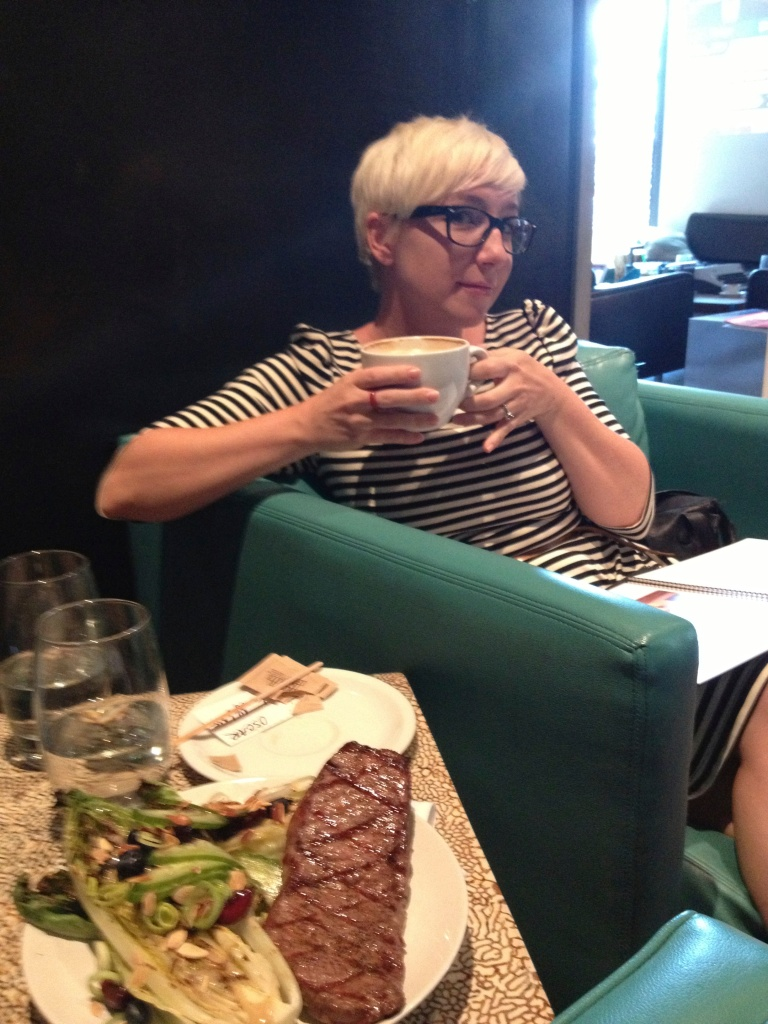 At theLUX Coffee cafe with Mrs. Bauer