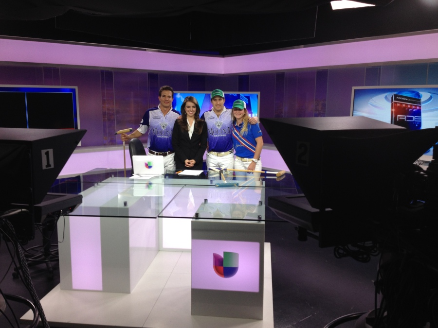 Polo players at UNIVISION 33