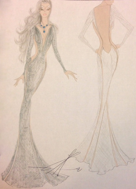 Couture Fashion Designer Sketch