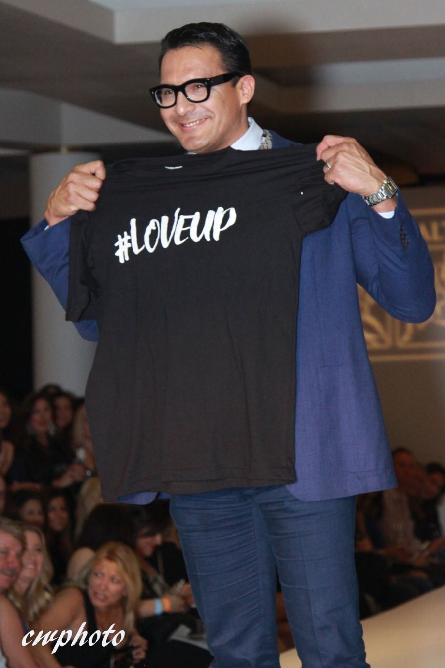 Runway Walk & #LoveUp shirt. A finale on my walk to show my support for this incredible initiative.