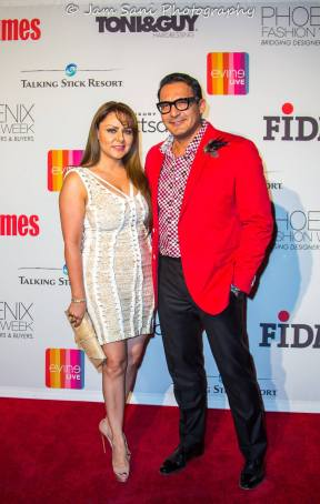 Mrs. Irma Deihl and myself on the Phoenix Fashion Week 2015 Red Carpet.