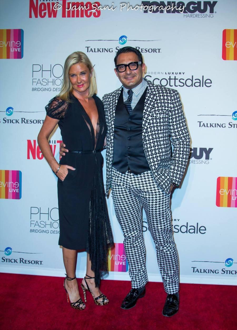 Angela Karp and Myself on Phoenix Fashion Week Red Carpet