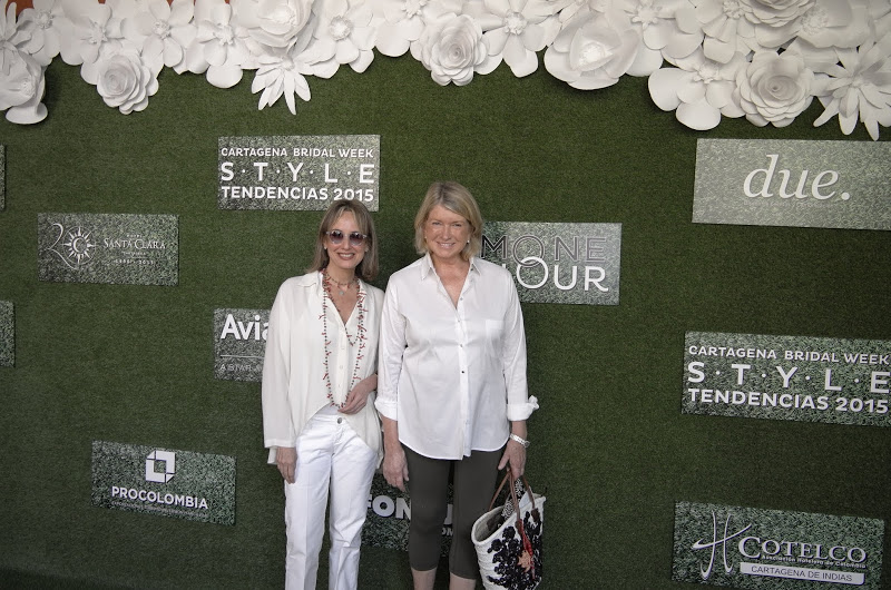 Mrs. Silvia Tcherassi & Mrs. Martha Steward step on the