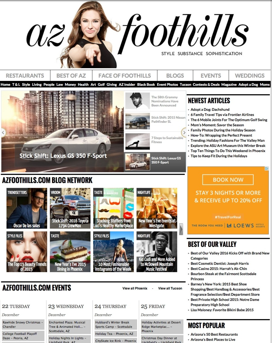 TRENDSETTER Section by AZ FOOTHILLS MAGAZINE