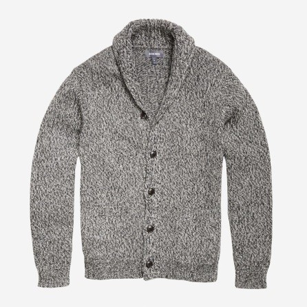 Charcoal Marl Cotton Yarn Cardigan