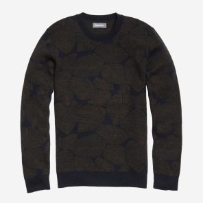 Palm Jacquard Crew Cotton sweater