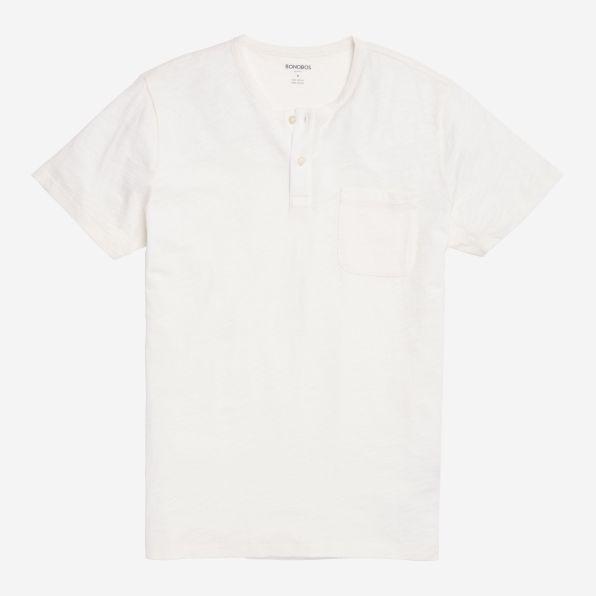 Short Sleeve Henley - White - Bonobos