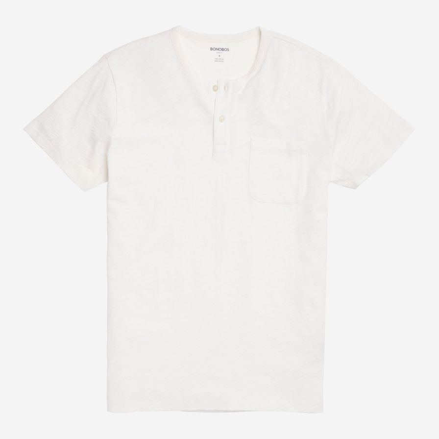 Short Sleeve Henley - White - Bonobos
