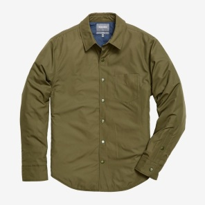 The Shirt Jacket - Olive Nylon
