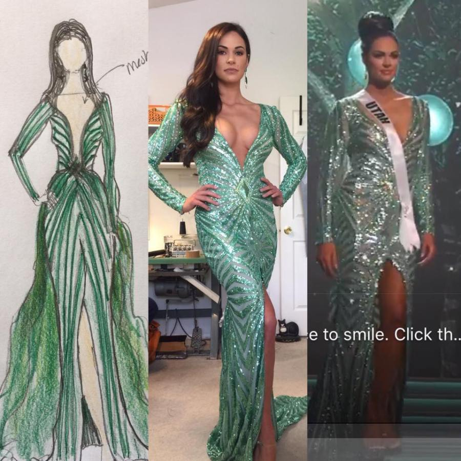 THE MAKING OF A BEAUTY QUEEN GOWN – WHAT WOULD OSCAR DO