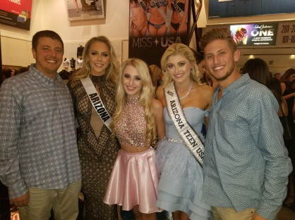 With friends family and current Miss Arizona USA