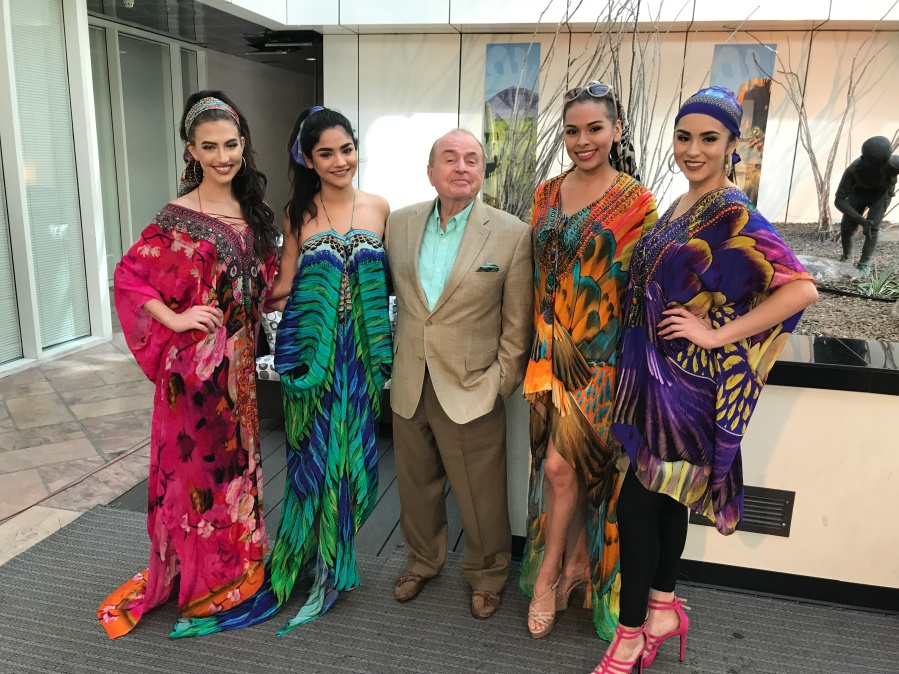 With Pa McMahon - Shahida Parides Fashion on AZTV7.JPG